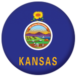 Kansas State Flag 58mm Mirror Keyring